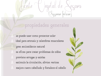 aceite vegetal sesamo aromaterapia aceites vegetales by naturals