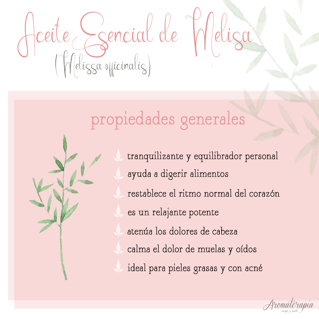 by naturals aromaterapia aceite esencial melisa remedios naturales
