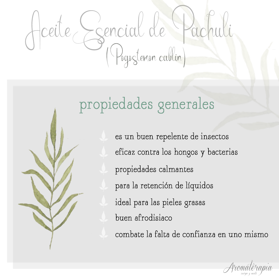 aromaterapia by naturals aceite esencial pachuli remedios naturales